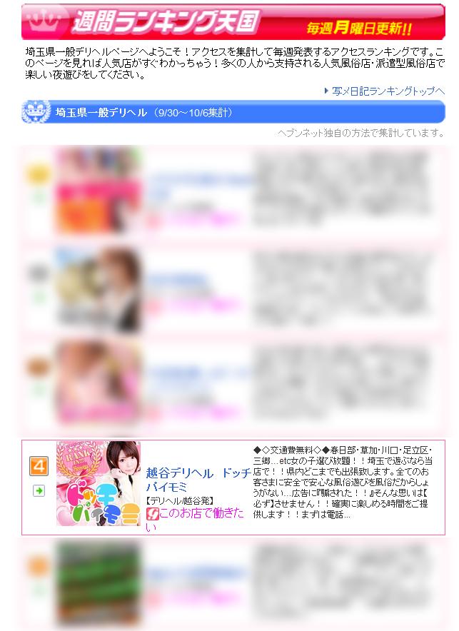 埼玉県一般デリヘルお店ランキング2016-10-10